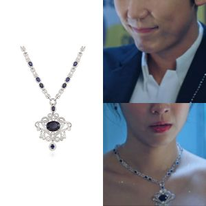 MINWHEE ART JEWELRY - K-drama Penthouse, Sapphire Tear Drop Necklace
