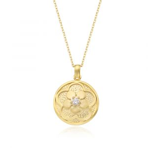 [MINWHEE ART JEWELRY] Korean Drama The King Oyat Flower circle Necklace