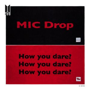 BTS(Bangtan Boys)  MIC Drop BLACK & RED BEFORE DYEING FACE TOWEL 2 pieces