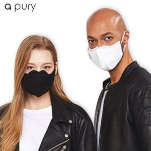[a pury] Filter Mask + Filter 5ea (KN95) (black) (S/M)