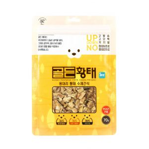 Humming Pet -Golden Pollack Pet Snack-Cube type (70g)