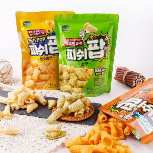 Badasori - FishPOP pollock snack 40g * 21 packs(Consomme, Laver, Cheese)