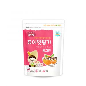(100P) [NAEBRO] PURE-EAT Finger Brown Rice Xylitol Tangerine Ring (40g*100)