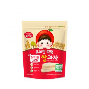 (50P) Organic Apple Pop Rice Snack (30g*50)