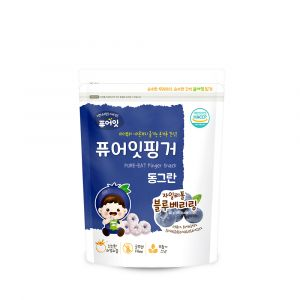 [NAEBRO] PURE-EAT Finger Brown Rice Xylitol Blueberry Ring (40g*6)