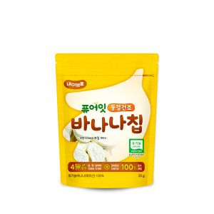[NAEBRO] PURE-EAT Freeze-Dried Fruit Chips (Banana)(6P) (25g*6)