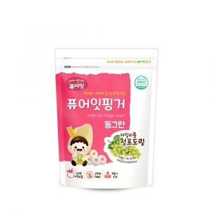 [NAEBRO] PURE-EAT Finger Brown Rice Xylitol Green Grape Ring(6P) (40g*6)