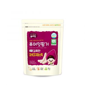[NAEBRO] PURE-EAT Finger Organic Purple Sweet Potato Stick(6P) (30g*6)