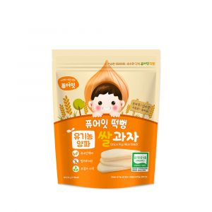 [NAEBRO] PURE-EAT Organic Onion Pop Rice Snack(6P) (30g*6)