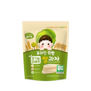 [NAEBRO] PURE-EAT Organic Cabbage Pop Rice Snack(6P) (30g*6)