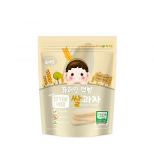 [NAEBRO] PURE-EAT Organic Plain Pop Rice Snack(6P) (30g*6)