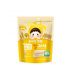 [NAEBRO] PURE-EAT Organic Banana Pop Rice Snack(6P) (30g*6)