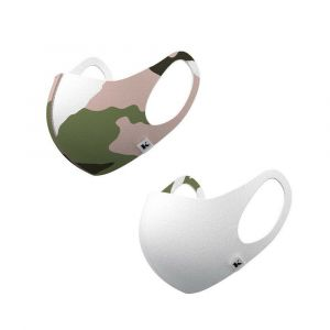 [1+1] Beautitude - ATB Antibacterial Mask-Blush Camo & White