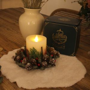 candle wreath LED lights