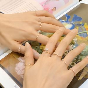 [MINWHEE ART JEWELRY] Love is beautiful, life is wonderful, Layered ten finger ring