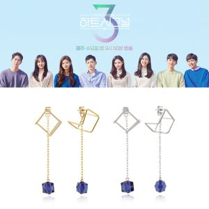 [MINWHEE ART JEWELRY] Heart Signal Season 3, Sapphire Earrings
