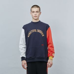 MOTIVE STREET - COLOR BLOCK SWEATSHIRT NAVY
