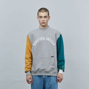MOTIVE STREET - COLOR BLOCK SWEATSHIRT GRAY