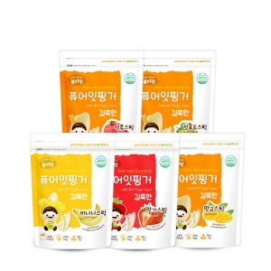 (5P) Brown Rice Fruit Stick (5-Type Set: Banana, Strawberry, Pomegranate, Green Grape) (30g*5)