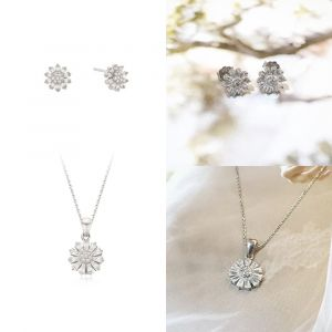 MINWHEE ART JEWELRY - Wildflower Earrings & Necklace Set
