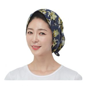 [Line] Hat Style Hair Short Scarf Wrap (4 Colors)