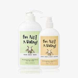 INAB_Kids Body Wash 500ml Face and Body Lotion with Goat Milk 150ml
