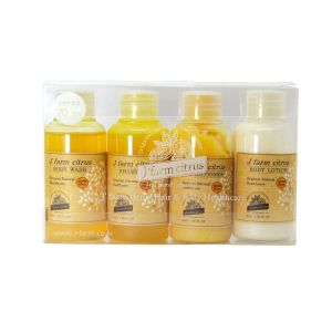 Jeju Tangerine Natural Hair & Body Healthcare 4 Miniature in one Set 50ml*4ea