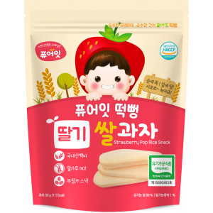 Organic Strawberry Pop Rice Snack (30g)