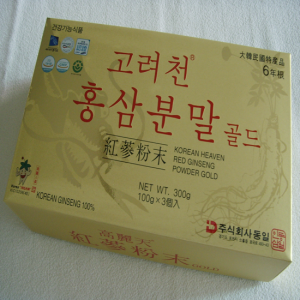 [KOREAN HEAVEN RED GINSENG] 6-Years Korean Heaven Red Ginseng Powder Gold (100 g * 3 Bottles)