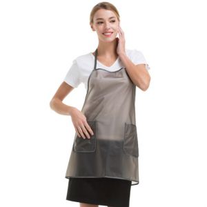 [Yodel] YA044 Halter Neck Semitransparent Hair Salon Apron (64cm)