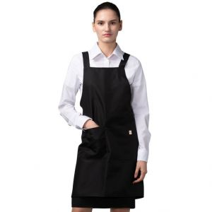 [Yodel] YA074 H Back Hair Salon Apron (Black)