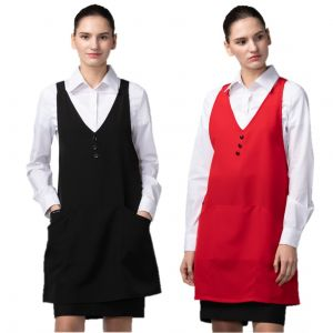 [Yodel] YA091 Pogny Three Button Hair Salon Apron (2 Colors / 2 Sizes)