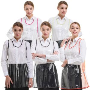 [Yodel] YA032 Transparent Back Mesh Hair Salon Apron (5 Colors)
