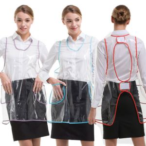 [Yodel] YA033 Transparent Pocket Hair Salon Apron (3 Colors)
