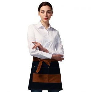 [Yodel] YA085 Denim Short Waist Server Hair Salon Apron