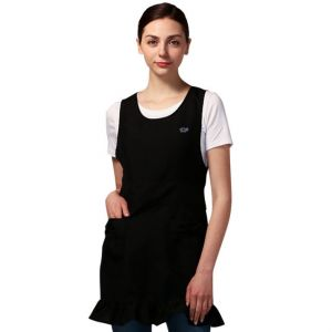 [Yodel] YA088 Ribbon Pocket Frill Hair Salon Apron