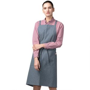 [Yodel] YA110 Hazy Stripe Blue Simple Hair Salon Cafe Apron