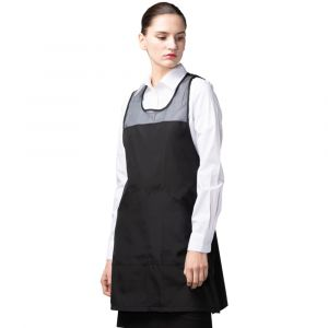 [Yodel] YA112 Cool BC Half Mesh Summer Hair Salon Apron Black