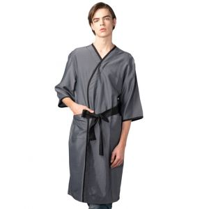 [Yodel] YG004 Men's Gray Stripe Hair Robe