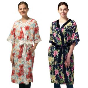 [Yodel] YG013 Floral Pattern Hair Robe (2 colors)